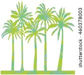 tropical palm trees   vector...