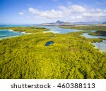 mauritius beach aerial view of... | Shutterstock . vector #460388113