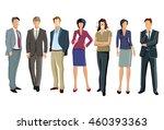 a group of businessmen  3d... | Shutterstock . vector #460393363