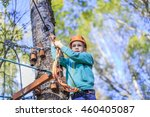 boy struggling with fear of... | Shutterstock . vector #460405087