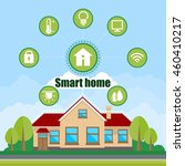 smart home vector creative flat ... | Shutterstock .eps vector #460410217