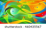 icon sport torch with colorful... | Shutterstock .eps vector #460435567