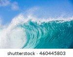 shorebreak ocean wave in...   Shutterstock . vector #460445803