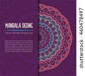 vector mandala decor for your... | Shutterstock .eps vector #460478497