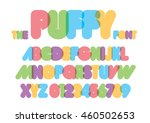 vector of stylized rounded font ...   Shutterstock .eps vector #460502653