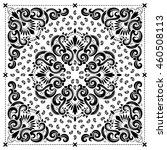 paisley bandana print | Shutterstock .eps vector #460508113