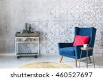 beautiful grey wall with... | Shutterstock . vector #460527697