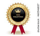 miss philippines award   Shutterstock .eps vector #460546837