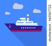 ship illustration vector icon... | Shutterstock .eps vector #460567723