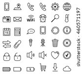 set of web icons mobile phones | Shutterstock . vector #460571197