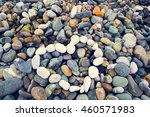 abstract heart laid out on...   Shutterstock . vector #460571983
