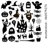 halloween vector icons   Shutterstock .eps vector #460579273