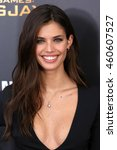 "Small photo of NEW YORK - NOV 18, 2015: Sara Sampaio attends the premiere of ""The Hunger Games: Mockingjay - Part 2"" at AMC Lincoln Square on November 18, 2015 in New York City."