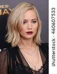 """Small photo of NEW YORK - NOV 18, 2015: Jennifer Lawrence attends the premiere of """"The Hunger Games: Mockingjay - Part 2"""" at AMC Lincoln Square on November 18, 2015 in New York City."""