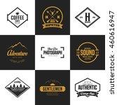 set of vintage logo and badge.... | Shutterstock .eps vector #460616947