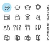 kitchen icons with white... | Shutterstock .eps vector #460634353