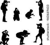 photographers silhouettes  ... | Shutterstock .eps vector #460669603