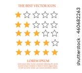 hotel star rating. star... | Shutterstock .eps vector #460682263