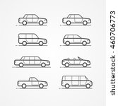 cars. types of bodies   Shutterstock .eps vector #460706773