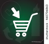 shopping cart  basket  icon | Shutterstock .eps vector #460706863