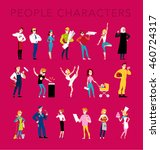 flat profession characters.... | Shutterstock . vector #460724317