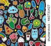 colorful fun seamless pattern... | Shutterstock .eps vector #460731427