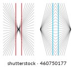 hering and wundt geometrical... | Shutterstock .eps vector #460750177