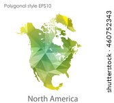 north america map in geometric... | Shutterstock .eps vector #460752343