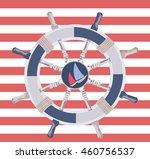 ship steering wheal. nautical... | Shutterstock .eps vector #460756537
