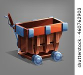 cartoon mine trolley. vector...