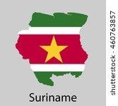 map of suriname with flag.... | Shutterstock .eps vector #460763857