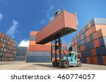 containers in the port of laem...   Shutterstock . vector #460774057