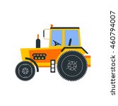 agriculture farm tractor vector ...