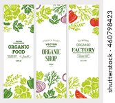 sketchy vegetables banner... | Shutterstock .eps vector #460798423