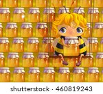 cute girl bee on a background...