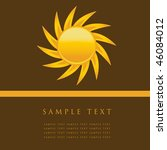 sun. vector illustration. | Shutterstock .eps vector #46084012