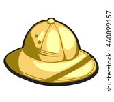 pith helmet made of gold.... | Shutterstock .eps vector #460899157