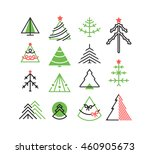 vector set of graphical color... | Shutterstock .eps vector #460905673