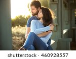 endearing embrace couple true... | Shutterstock . vector #460928557
