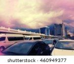 blurred parking area in city | Shutterstock . vector #460949377