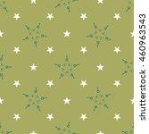 white and green stars geometric ... | Shutterstock .eps vector #460963543