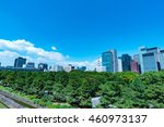 high rise buildings and blue... | Shutterstock . vector #460973137