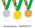 Three Olympic Medals With The...