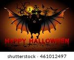 bat flying on black background... | Shutterstock .eps vector #461012497