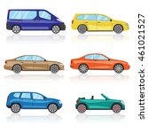 collection cars icons set. 6... | Shutterstock . vector #461021527
