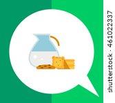 jug with milk and cookies | Shutterstock .eps vector #461022337