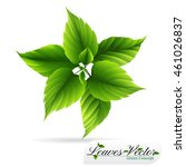 eco icon green leaf vector... | Shutterstock .eps vector #461026837