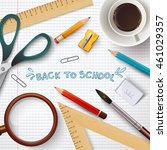 back to school illustration.... | Shutterstock .eps vector #461029357