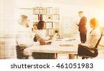 businessman explaining graphs... | Shutterstock . vector #461051983