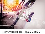 fuel up the natural gas vehicle ... | Shutterstock . vector #461064583